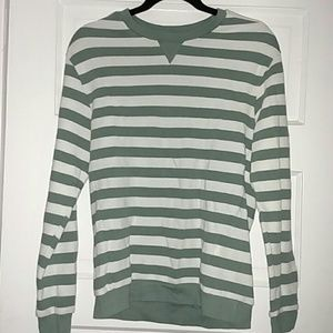 Men's light green striped shirt